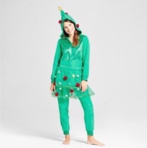 wondershop at target womens christmas tree novelty pajama small one piece green ebay