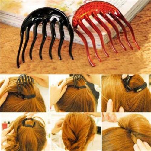 Stylish Hair Styling Clip Comb Stick Bun Maker Braid Tool Hair Accessories 8C