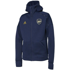 Details about adidas Men's Arsenal FC ZNE HD 3.0 Jacket Hoodie Navy Apparel Soccer NWT EH5612
