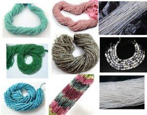 FACETED-GEMSTONE-RONDELLE-BEADS-STRAND-3-4MM-13-034-LONG-NEW-ARRIVAL