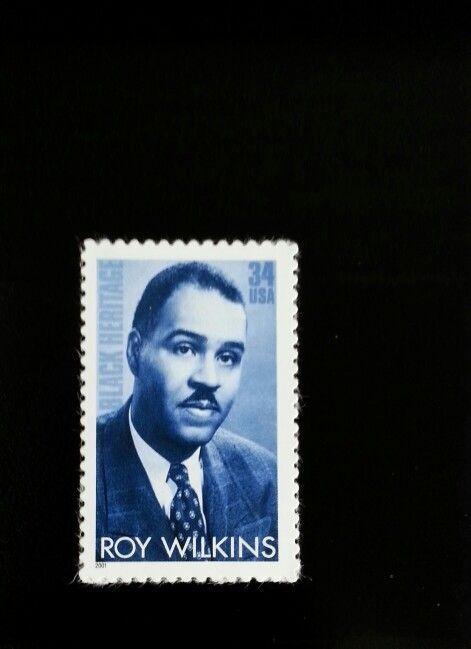 2001 34c Roy Wilkins, Civil Rights Leader Scott 3501 Mi