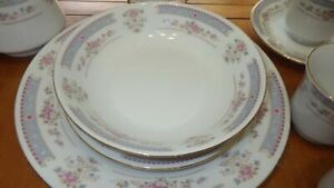 Fine China Dinnerware Set China Pearl Catherine Service 8 mostly 43 pieces EUC