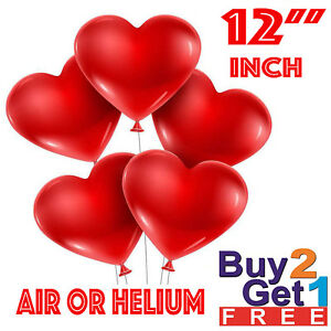 100-LOVE-HEART-SHAPE-BALLOONS-Wedding-Party-Romantic-baloon-Birthday-decoration