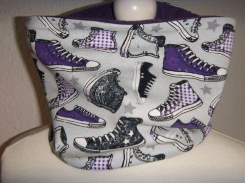 Neu,Loop,Schuhe,Sneakers,TurnschuheSchlauchschal,Rundschal,Jersey,Fleece,lila