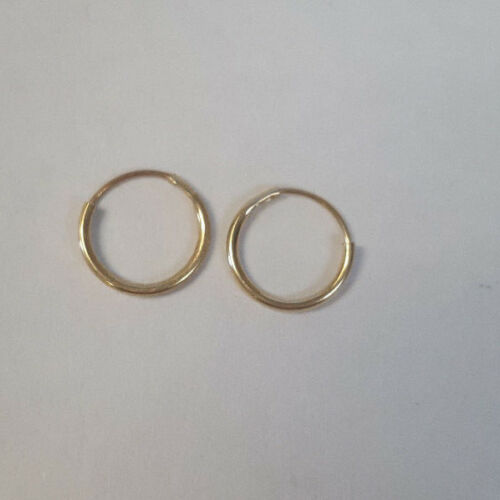 Adoraable 10KT Yellow Gold Small Smooth Polish Design Dainty Hoop Earrings
