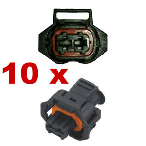 10 x FEMALE car Injector connector plug BOSCH EV1 Fuel Injection Connectors