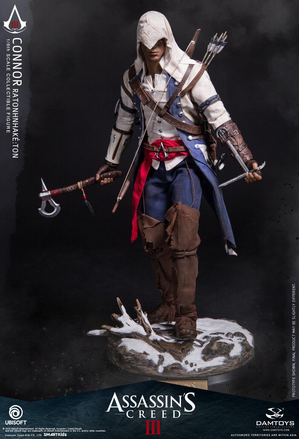 DAMTOYS Assassin's Creed III 1 6th escala Connor figura de colección DMS010