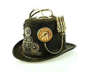 Steampunk Top Hat With Gears Burning Man Cosplay Halloween Top Hat