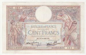 100 Francs Merson 11/08/1938 Sup ( 78 ) Gunzvhdq-07213213-642099499