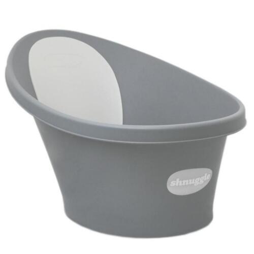 Shnuggle Baby Bath Tub Wash Foam Backrest Bum Bump Support Washing Slate Grey