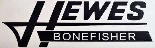 1 Hewes Bonefisher Vinyl Boat Decal Black Sticker Logo Hull Car Truck Window