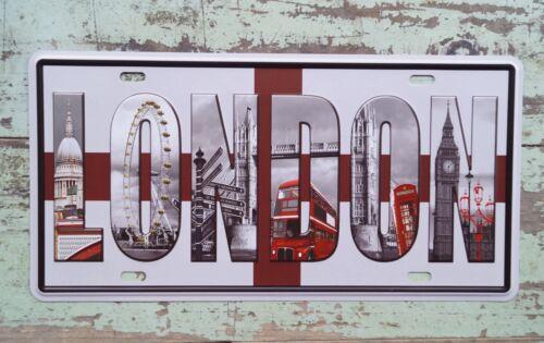 LONDON Sign CAR PLATE Tin Metal Signs Bar pub home Tavern Decor for Truck