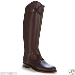 polo men horse riding leather long zipper ridding real leather boots