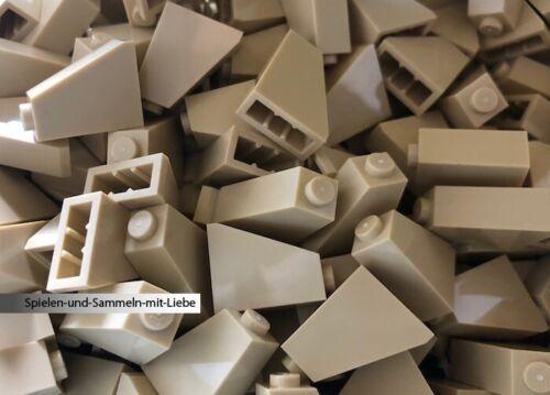 20 x LEGO® 1 x 2 x 2 SCHRÄG DACHZIEGEL DACHSTEIN GLATT 60481 NEU SAND TAN BEIGE