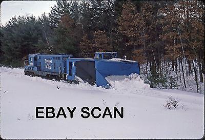 ORIG SLIDE Boston & Maine GP7 1566 with snow plow on Hillsboro Branch Origin