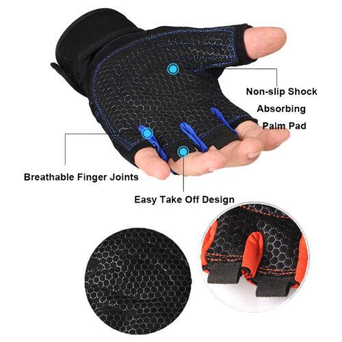 MTB Bicycle Half Finger Cycling Gloves Gel Pad Bus Driving Wheelchair Fingerless