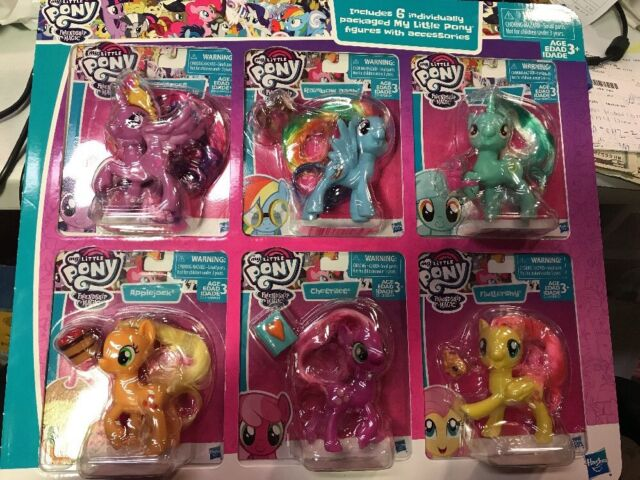 My Little Pony Friendship Is Magic 6 Figures Set Hasbro 6urgzw1 For Sale Online Ebay