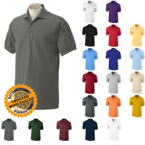 c006be2db Gildan DryBlend Mens Polo Shirt Jersey T-Shirt All Colors 8800 S-5XL ...