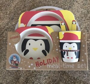 Kid-set-Plate-cup-Bowl-utensils-Christmas-holiday
