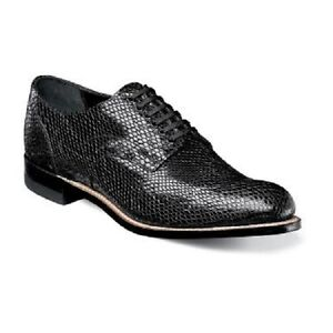 Stacy Adams Mens Shoes Madison Snake Leather Print Oxford
