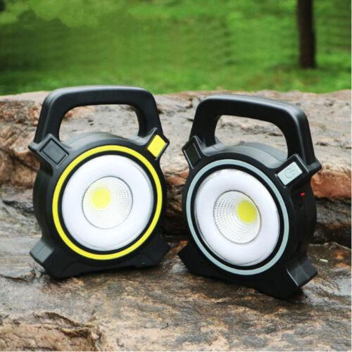 30W Solar Portable Rechargeable LED Flood Light Outdoor Garden Work Spot Lamp CU