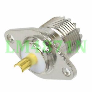 Connector-SO239-UHF-female-2-hole-flange-panel-mount-ICOM-YAESU-antenna-socket
