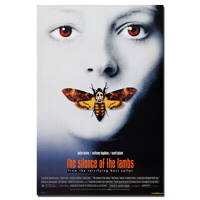 SILENCE OF THE LAMBS MOVIE Art Silk Poster 12x18 24x36