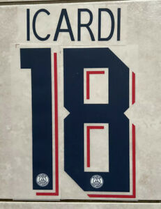 Flocage Nameset Icardi # 18Paris 2019-2020 Third/3e . Champions League .