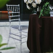 4 Pack Clear Acrylic Resin Armless Stackable Chiavari Wedding Banquet Chair