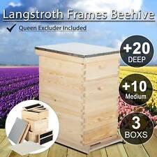 10 Frame Size Beekeeping Kit Bee Hive House Framebeehive 20 Deep Amp 10 Medium