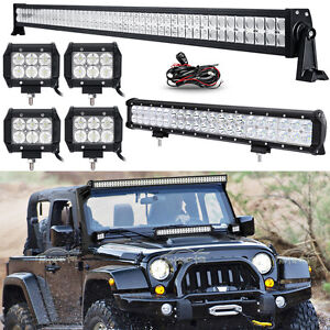 52inch 700w led light bar combo20inch4 18w fit jeep wrangler jk image is loading 52inch 700w led light bar combo 20inch 4 aloadofball Images