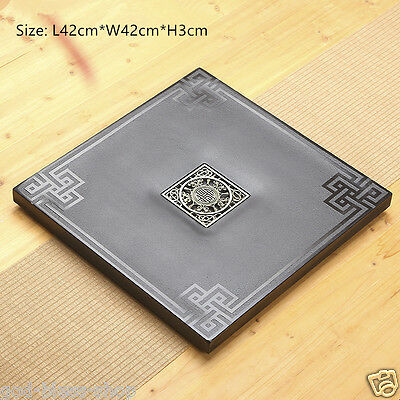 China black stone tea table round/square/rectangle shape tea tray drainage holes