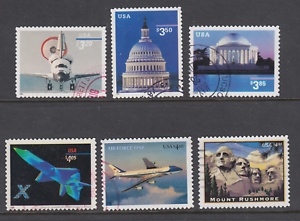 US-Sc-3261-3472-3647A-4018-4144-4268-used-1998-2008-Priority-Mail-6-diff-F-VF