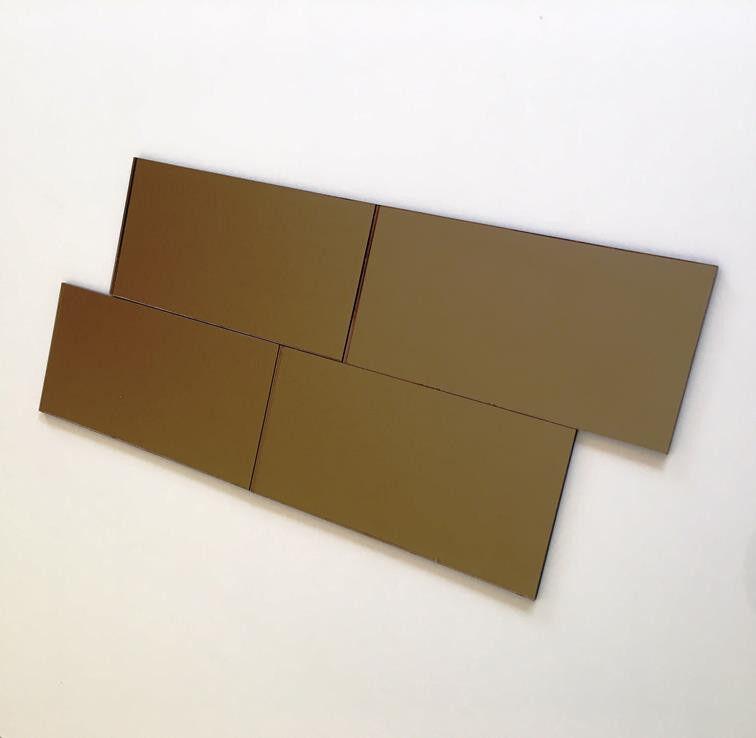 Rectangular Acrylic Wall Tiles - Bronze Mirror
