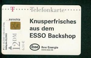 2000 Telefonkarte S 01 03.2000 Modul ? (Motiv: ESSO) - Deutschland - 2000 Telefonkarte S 01 03.2000 Modul ? (Motiv: ESSO) - Deutschland