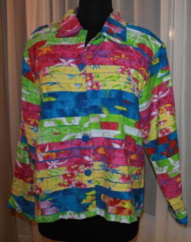 jas Multi Deco Blazer shirt Keren Womens kleur L Top Art Hart heldere bloemen xSTtqUg