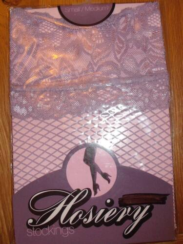 Stockings ANN SUMMERS Lilac Lace Top Fishnet Small//Medium was £6