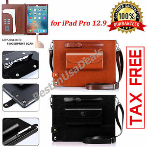 Apple-iPad-Pro-12-9-034-Case-Tablet-Protective-Genuine-Leather-Cover-with-stylus