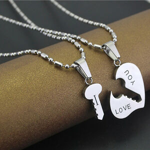 Cute best i love you couple lover matching key hearts pendant image is loading cute best i love you couple lover matching aloadofball Image collections