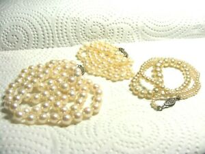 Estate-Find-3-Sterling-Silver-Pearl-Necklaces