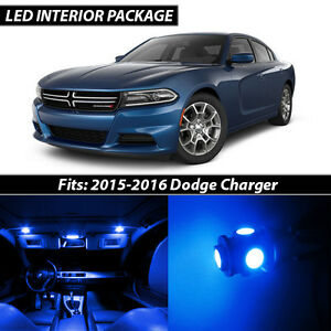 Details About 2015 2016 Dodge Charger Blue Interior Led Lights Package Kit