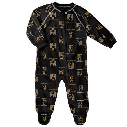 NHL Vegas Golden Knights Raglan AOP Sleeper Suit Newborn Kids Fanatics