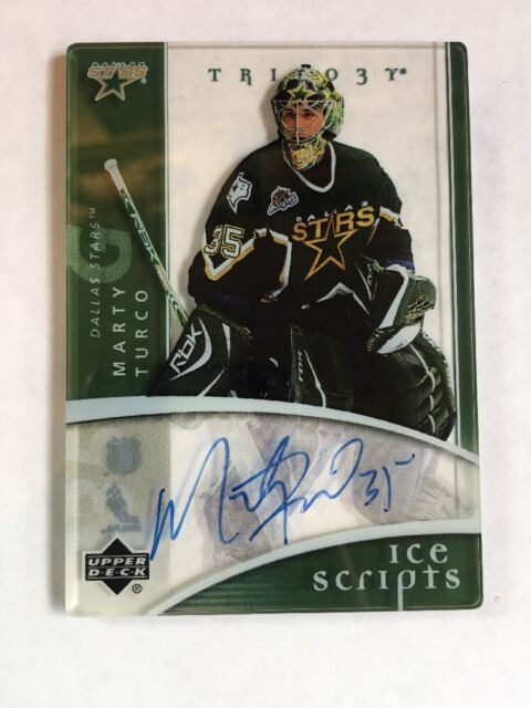 2007-08 UD TRILOGY ICE SCRIPTS MARTY TURCO AUTO AUTOGRAPH