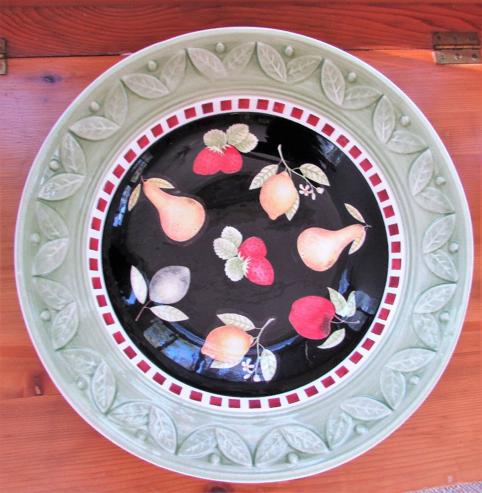 Rare Gorgeous Debbie Mumm for Zak Designs Classic Fruit Bowls Pasta Salad Large