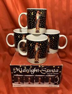 "Certified International BECCA BARTON Midnight Santa 11/"" Dinner Plate"