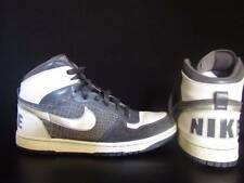 Vintage Nike High Top Shoes Size 12 White & Gray True Vtg Crocodile Look Dunk