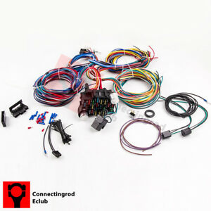 image is loading wiring-harness-21-circuit-17-fuses-universal-hot-