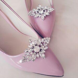 cc2762ab5712 Image is loading Shoe-Clip-Buckle-Rhinestone-Decoration-Wedding-Floral-DIY-