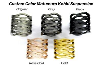 Matumura Kohki//Scrowave HARD Springs Suspension for Brompton Bicycle gold black