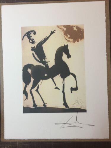 Salvador Dali Lithographie 50 X 65 Bfk Rives Timbre à Sec Signé au Crayon D2090